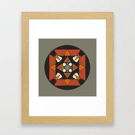 Mandala earth colors Framed Art Print