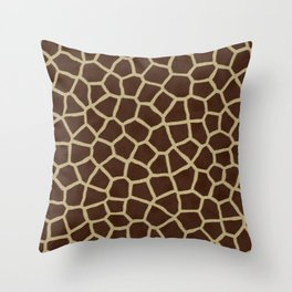 Giraffe Print Pattern Throw Pillow