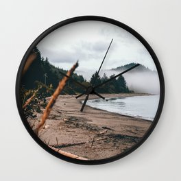 Foggy Washington coast morning Wall Clock