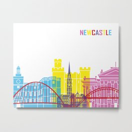 Newcastle skyline pop Metal Print