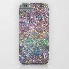 Amazing Rainbow Glitter Design Pattern iPhone Case