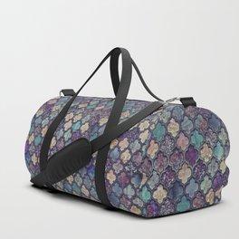 Moroccan Tile Design In Retro Colors Duffle Bag