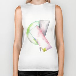 180914 Minimalist Geometric Watercolor 2 Biker Tank