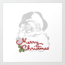 Jolly Santa Merry Christmas Art Print