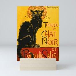 Le Chat Noir The Black Cat Art Nouveau Mini Art Print