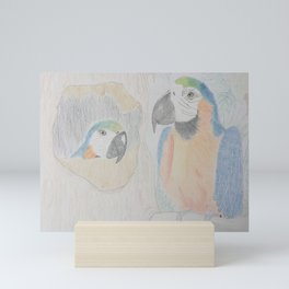 Macaw Parrots - Leaving Home Mini Art Print