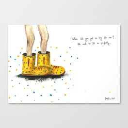 these shoes are too big for me Canvas Print