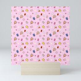 cardcaptor sakura pattern pink Mini Art Print
