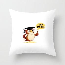 Intellectuowl Throw Pillow