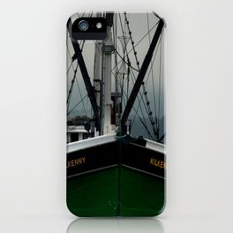 Commercial Fishing Boat Photography Print iPhone Case