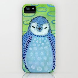 Penguin blue iPhone Case