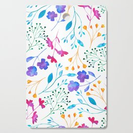 Bold & Colourful Fluro Floral Pattern Cutting Board