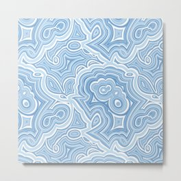 Blue Lace Agate Metal Print