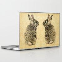 rabbit Laptop & iPad Skins featuring Rabbit by Anna Shell