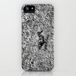 Sad and Lonely - Black & White iPhone Case