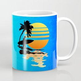Surfing Sunrise Coffee Mug