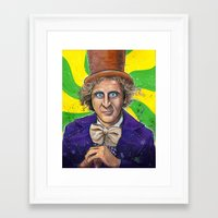 willy wonka Framed Art Prints featuring WILLY WONKA! by CHRIS MASON