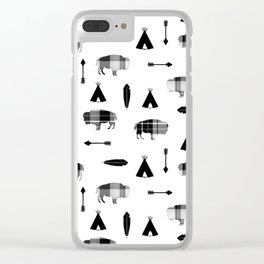Buffalo Tribe Clear iPhone Case