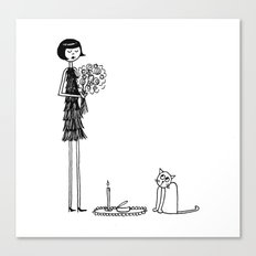 Eloise wondered if she had crossed the threshold into crazy cat lady territory Canvas Print