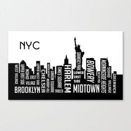 Skyline New York Canvas Print