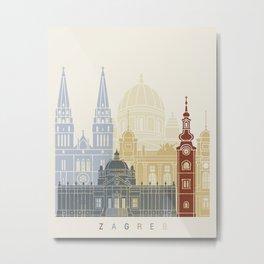 Zagreb skyline poster Metal Print