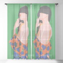 Feminine Instinct - Woman Beauty 1 Sheer Curtain