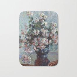 """Claude Monet """"Chrysanthemums"""", 1882 Bath Mat"""