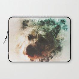 Cairn Terrier Digital Watercolor Painting Laptop Sleeve