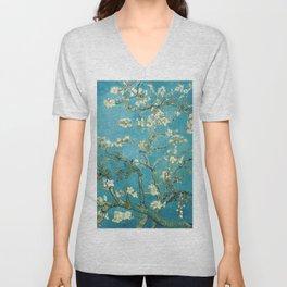 Almond Blossoms by Vincent van Gogh Unisex V-Neck