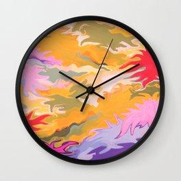 Desert Camo Wall Clock