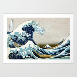 The great wave, famous Japanese artwork Art Print