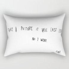 Take picture it will last longer. Rectangular Pillow
