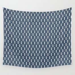 Dots and Dashes . Classic Blue  Wall Tapestry