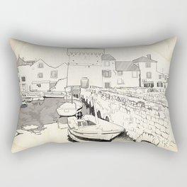 Harbor with boats Rectangular Pillow