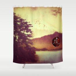 The Nagahama Tiger Shower Curtain