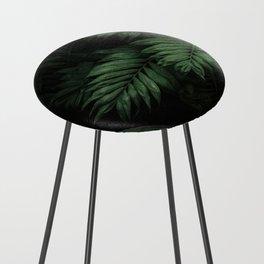 Tropical Beauty // Tropical Boho Leaves meets Minimalist Patterns Counter Stool