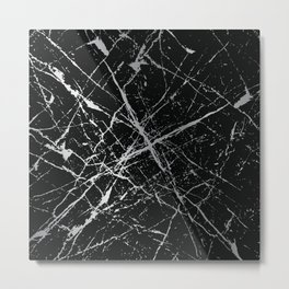 Silver Splatter 090 Metal Print