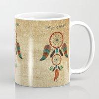 dream catcher Mugs featuring DREAM CATCHER by NoMoreWinters