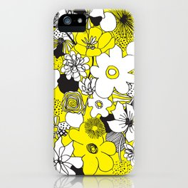 Floral Medley - Yellow iPhone Case