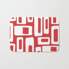 Retro Mid Century Modern Abstract Pattern 335 Red Bath Mat