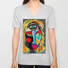 Looking for the third eye street art graffiti Unisex V-Neck