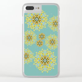 bee's flowers Clear iPhone Case
