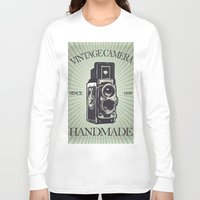 vintage camera Long Sleeve T-shirts featuring Camera Vintage by Ale Ibanez
