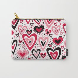 Lovely Hearts Carry-All Pouch