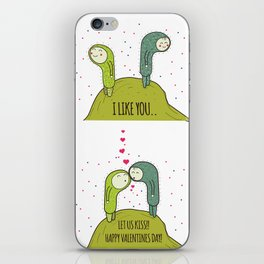 I like you..... Let us Kiss! iPhone Skin