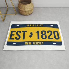 New Jersey State License Plate Souvenir Rug