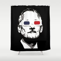 murray Shower Curtains featuring Bill Murray 3D by Spyck