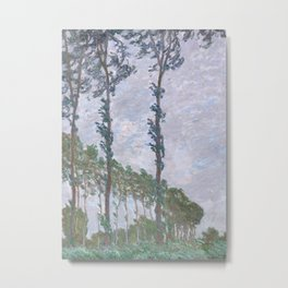 Wind Effect, Series of The Poplars Metal Print