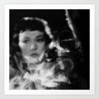 smokey room Art Print
