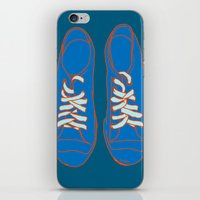 sneakers iPhone & iPod Skins featuring Sneakers by Sam Ayres